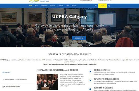 UCPBA Calgary website screenshot by Urban Block Media in Ottawa