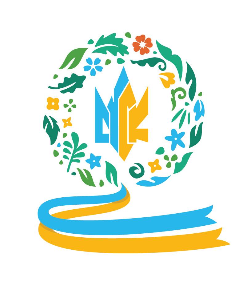 The Ukrainian Canadian Students' Union (SUSK) wreath logo by Urban Block Media in Ottawa