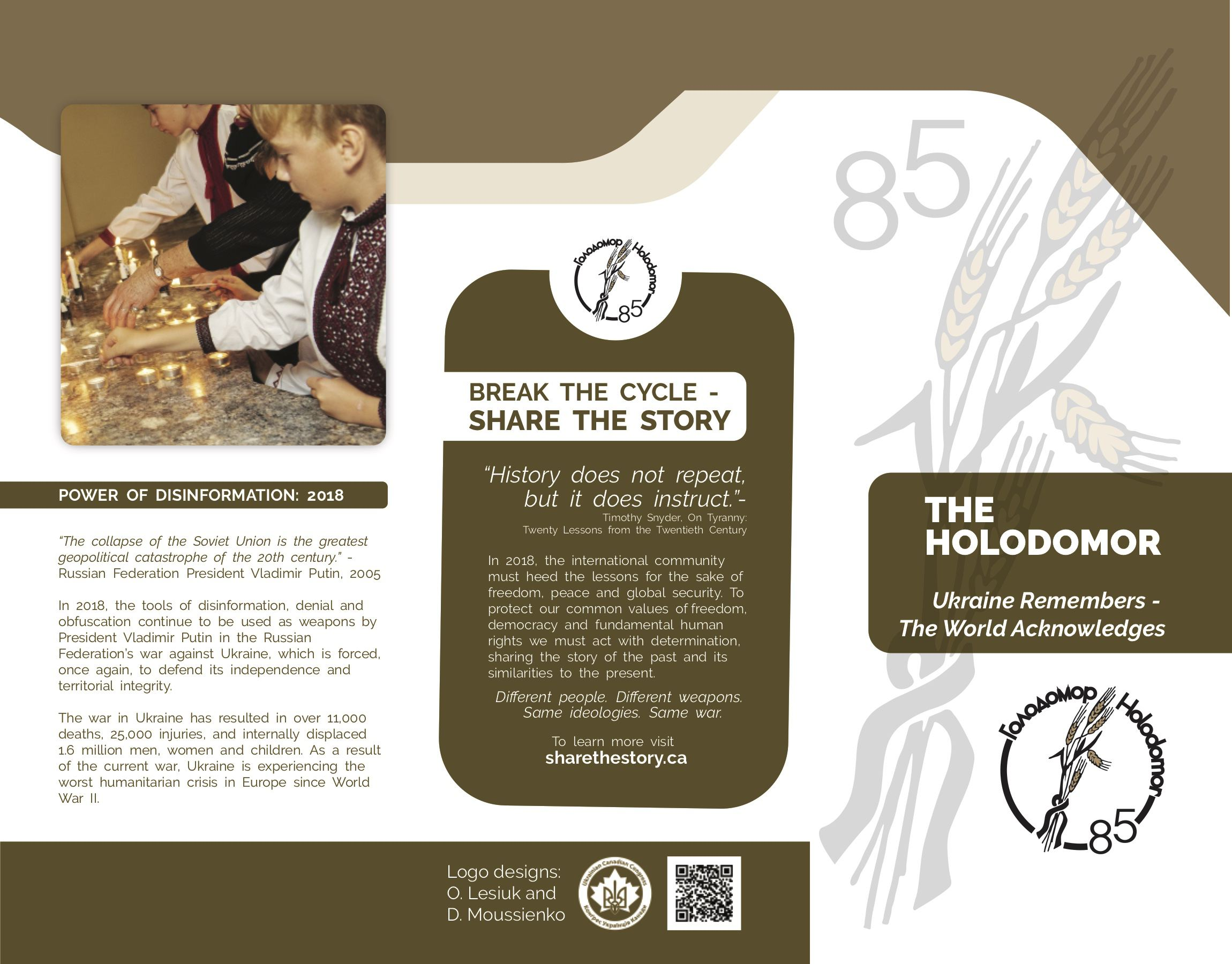 Holodomor Share the Story Project by Urban Block Media in Ottawa