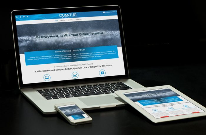 QuantumClick website on different devices by Urban Block Media in Ottawa