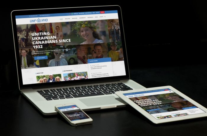 https://www.unfcanada.ca/ website on different devices: laptop, tablet, mobile phone by Urban Block Media in Ottawa