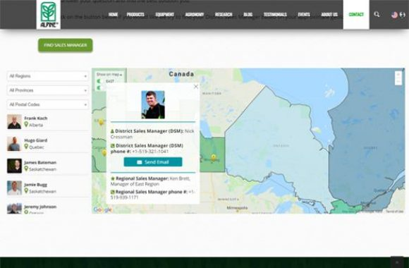 Nachurs Alpine Solutions map with regional information by Urban Block Media Ottawa